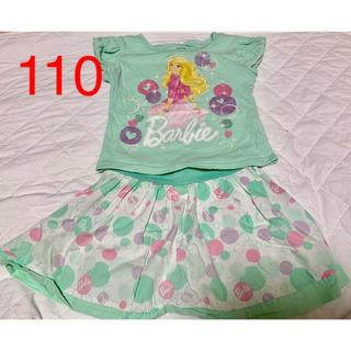 バービー(Barbie)のバービー*Barbie*Tシャツ*キュロット*半袖*スカート風(Tシャツ/カットソー)