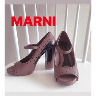 マルニ(Marni)のマルニ MARNI オープントゥ パンプス(ハイヒール/パンプス)