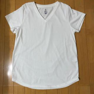 マックハウス(Mac-House)のTシャツ レディース 無地 白 L Vネック(Tシャツ(半袖/袖なし))