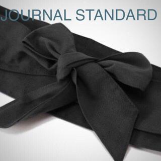 ジャーナルスタンダード(JOURNAL STANDARD)の新品タグ付き ジャーナルスタンダード サッシュベルト ブラック 黒 リネン 麻(ベルト)
