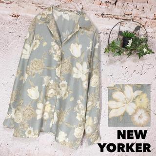 ニューヨーカー(NEWYORKER)のNEWYORKER 開襟 花柄ブラウス 長袖シャツ(シャツ/ブラウス(長袖/七分))