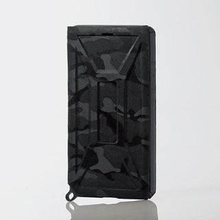 エレコム(ELECOM)のiPhoneXR ケース カモフラ ブラック 耐衝撃 アイフォーン カバー ZS(iPhoneケース)