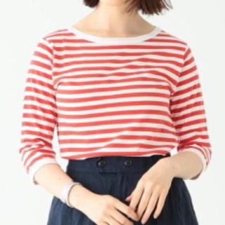 ビームスボーイ(BEAMS BOY)のBEAMS BOY 赤 ボーダー カットソー 7分袖(Tシャツ(長袖/七分))