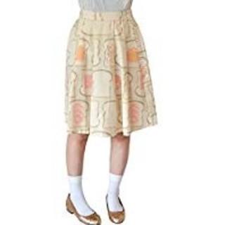 メルロー(merlot)のmerlot メルロー しょくぱん柄 食パン ひざ丈 スカート(ひざ丈スカート)