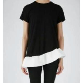 バーニーズニューヨーク(BARNEYS NEW YORK)のYOKO CHAN ヨーコチャンアシンメトリーカットソー♡フリルTシャツ(Tシャツ(半袖/袖なし))