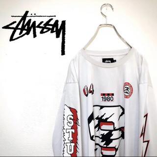 ステューシー(STUSSY)のstussy ステューシー tシャツ メンズ 長袖 メッシュ 古着 90s XL(Tシャツ/カットソー(七分/長袖))