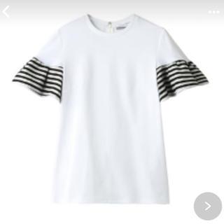 バーニーズニューヨーク(BARNEYS NEW YORK)の最終価格❗️BORDERS at BALCONY フリル シャツ 白(Tシャツ(半袖/袖なし))