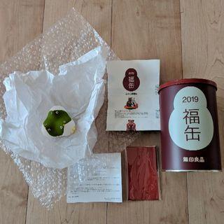 ムジルシリョウヒン(MUJI (無印良品))の無印良品  福缶  下浦土玩具 めじろおし(置物)