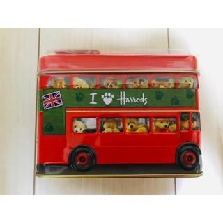 ハロッズ(Harrods)のHarrods「ロンドン・バス ・ベア」ミルクチョコレート 200g 貯金箱(菓子/デザート)