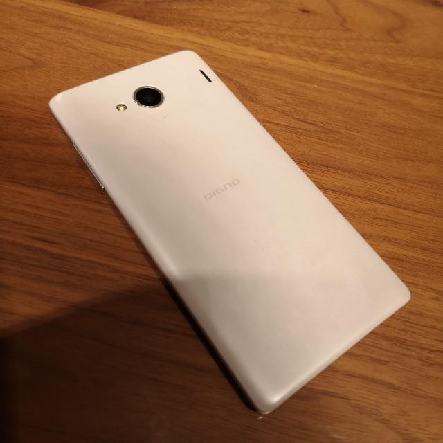 京セラ(キョウセラ)のau Qua Phone QX KYV42 ホワイト スマホ/家電/カメラのスマートフォン/携帯電話(スマートフォン本体)の商品写真