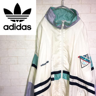 アディダス(adidas)のadidas アディダス ナイロンジャケット ブルゾン マルチカラー 90s(ナイロンジャケット)