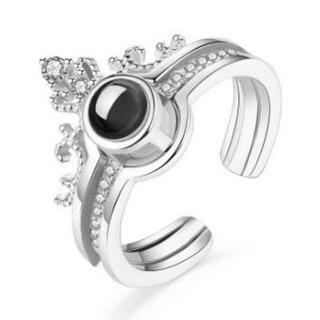 シルバー色王冠ペアリング(リング(指輪))