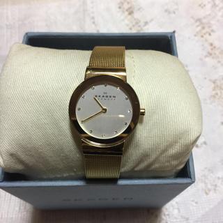 スカーゲン(SKAGEN)のスカーゲン レディース スワロフスキー 腕時計 メッシュベルト(腕時計)