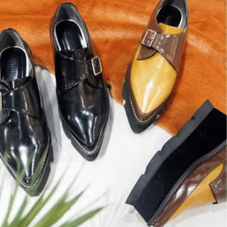 ムルーア(MURUA)のMURUA完売ベロアソールローファー36(ローファー/革靴)