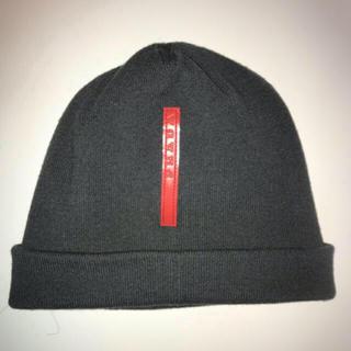プラダ(PRADA)のプラダ ニット帽 ビーニー   極美品(ニット帽/ビーニー)