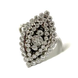 18金 K18 ホワイトゴールド ダイヤ ダイヤモンド リング 指輪 レディース(リング(指輪))