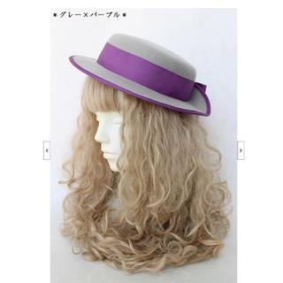 ヴィクトリアンメイデン(Victorian maiden)のvictorian maiden エレガントリボンキャノチエ 帽子(ハット)