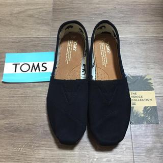 トムズ(TOMS)の新品未使用!TOMS トムズ  ブラックキャンパス 24センチ(スリッポン/モカシン)