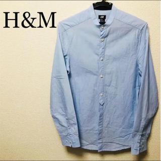エイチアンドエム(H&M)のH&M エイチアンドエム ノーカラーシャツ  水色 (シャツ)