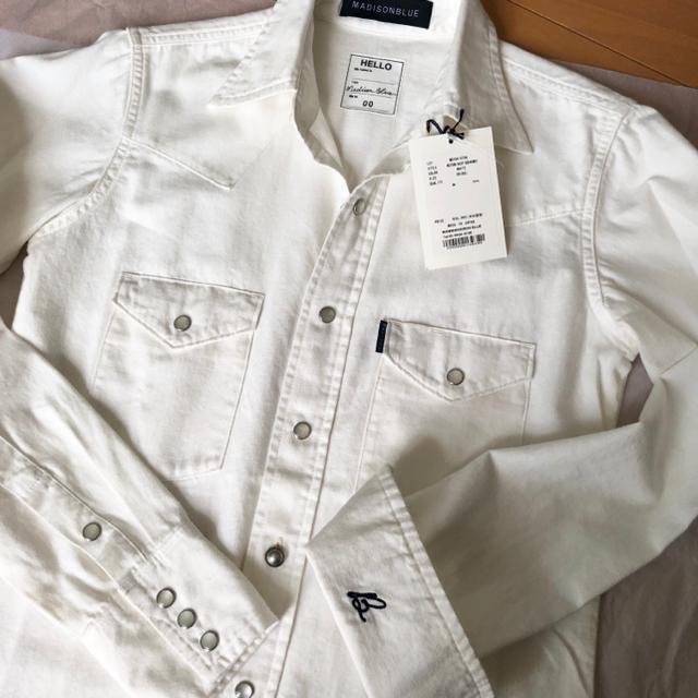MADISONBLUE(マディソンブルー)のマディソンブルー ウエスタンシャツ 白 00 新品 レディースのトップス(シャツ/ブラウス(長袖/七分))の商品写真