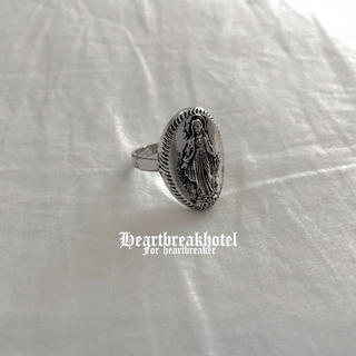 ♥️ Vintage Silver Virgin Mary Ring(リング(指輪))