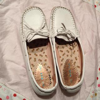 ホワイト ローファー(ローファー/革靴)