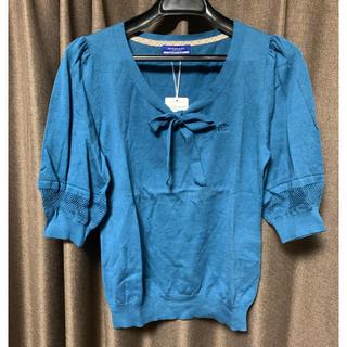 バーバリーブルーレーベル(BURBERRY BLUE LABEL)のバーバリーブルーレーベルBURBERRYBLUELABEL値下人気ロゴ入新品(Tシャツ(長袖/七分))