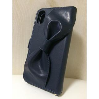 エレコム(ELECOM)のiPhone XR ケース 手帳型 ハンドホールドリボン付 アイフォーン カバー(iPhoneケース)