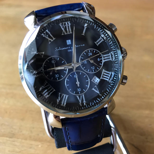 かめ吉 時計 フランクミュラー | Salvatore Marra - 新品✨サルバトーレマーラ  腕時計 メンズ SM19104-SSBL ネイビーの通販 by てっちゃん(´∀`)|サルバトーレマーラならラクマ