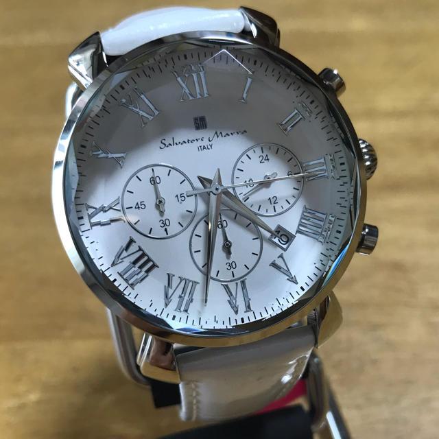 wish 時計 偽物 / Salvatore Marra - 新品✨サルバトーレマーラ  腕時計 メンズ SM19104-SSWH ホワイトの通販 by てっちゃん(´∀`)|サルバトーレマーラならラクマ