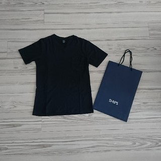 シップス(SHIPS)の定番☆SHIPS 半袖Tシャツ S ネイビー(Tシャツ/カットソー(半袖/袖なし))