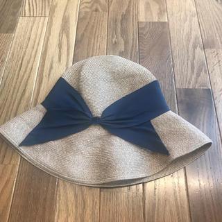 バーニーズニューヨーク(BARNEYS NEW YORK)のk様専用 アシーナニューヨーク 帽子 ネイビー(麦わら帽子/ストローハット)