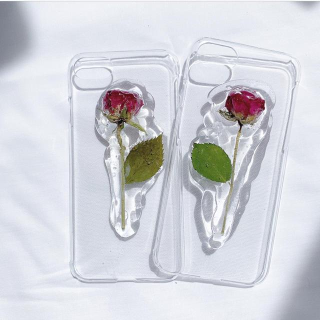 薔薇のiPhone case 【iPhone6.6s.7.7s.8】 ハンドメイドのスマホケース/アクセサリー(スマホケース)の商品写真