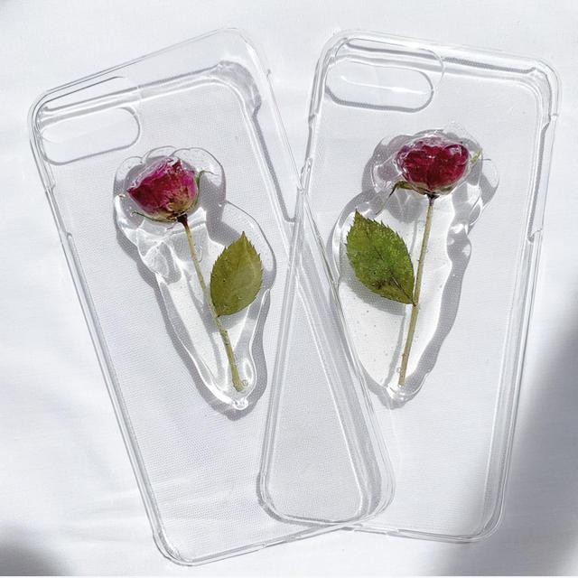 薔薇のiPhone case 【iPhone7.8plus】 ハンドメイドのスマホケース/アクセサリー(スマホケース)の商品写真
