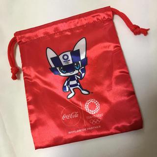 コカコーラ(コカ・コーラ)のミライトワ巾着袋レッド外袋無しa0052(外出用品)