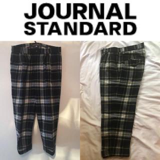 ジャーナルスタンダード(JOURNAL STANDARD)の【美品】journal standard ウールチェックパンツ38(クロップドパンツ)