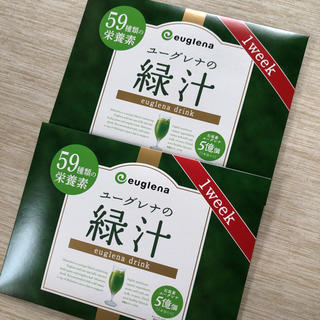 ユーグレナ  緑汁 1week 2箱(青汁/ケール加工食品)