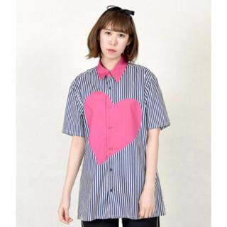 ミルクボーイ(MILKBOY)のMILKBOY  heart シャツ チェリーピンク (Tシャツ/カットソー(半袖/袖なし))