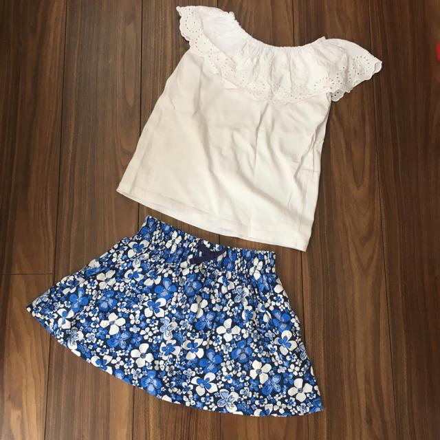 GU(ジーユー)の2点セット☆GU トップスとUNIQLO スカート キッズ/ベビー/マタニティのキッズ服 女の子用(90cm~)(スカート)の商品写真