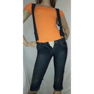 アナップラティーナ(ANAP Latina)のANAP USA オレンジ 刺繍 デニム  サロペット パンツ(デニム/ジーンズ)