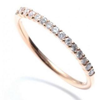 アガット(agete)のK10 ピンクゴールド 0.14カラット 8号 華奢 リング 指輪 刻印あり(リング(指輪))