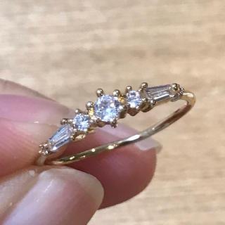 リング 指輪 CZ ダイヤ ゴールド 18号 エテ アガット 好きさん♡(リング(指輪))