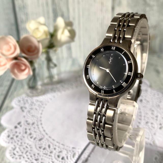 hublot 時計 ウニコ - Saint Laurent - 【動作OK】Yves Saint Laurent 腕時計 レディース ブラックの通販 by soga's shop|サンローランならラクマ