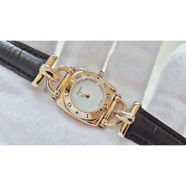 Gucci - GUCCI グッチ 6300L 女性用 クオーツ腕時計 電池新品 B2201メの通販 by hana|グッチならラクマ