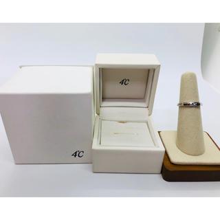 ヨンドシー(4℃)の4℃  Pt950 プリンセスカット ダイヤモンド リング 裏石ブルーダイヤ(リング(指輪))