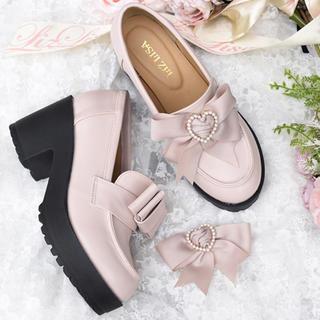 リズリサ(LIZ LISA)のLIZ LISA 厚底リボンローファー(ローファー/革靴)