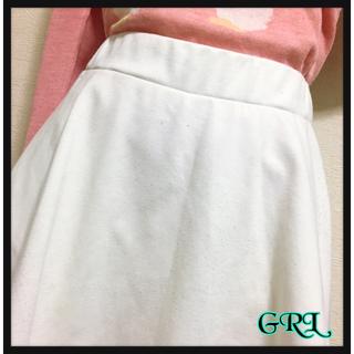 グレイル(GRL)の[GRL]スコート風スカート 白 キュロット キッズ ガールズ ジュニア(スカート)