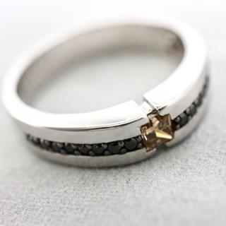 K10WG ダイヤ メンズリング(リング(指輪))