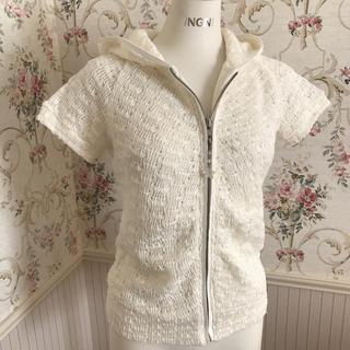 リズリサ(LIZ LISA)のLIZ LISA 可愛い手編み風半袖パーカー(パーカー)