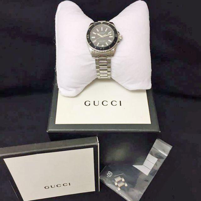 Gucci - 【美品】グッチ ダイヴ ダイバーズウォッチ 腕時計 レディース シルバーの通販 by 【全品値下げしました】★レイチェル★|グッチならラクマ